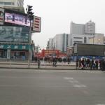 中国瀋陽の繁華街である中街