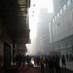 瀋陽の街の深い濃霧