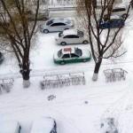 11月7日、中国瀋陽に初雪